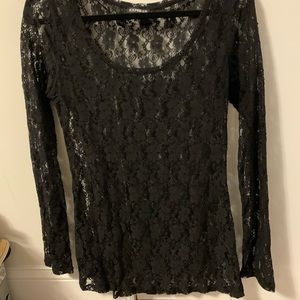 Express lace sheer top